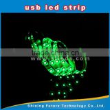 SMD 5050/3528 led Usb IP65 silicon coated waterproof LED strip, LED strip with USB port,silicon gel waterproof led strip