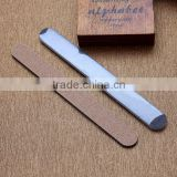 Fashion beauty 100/180 grit Nail File,OEM Wooden emery board disposible nail file and buffer for nail tools