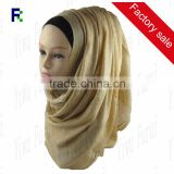 Wholesale New Style Fashion Popular Islamic Shimmer Glitter Viscose Muslim Stripes Shawl Hijab Scarf