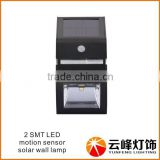 wholesale hot selling sensor function solar wall lamp Stainless steel solar wall light with PIR sensor Stainless steel solar wal