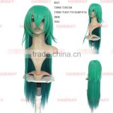 Free sample green crochet long braid hair wig synthetic braiding hair wig