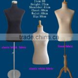 female bust dress form mannequin with adjustable stand