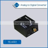 1 x TOS link (fiber optic), 1 x coaxial Analog to Digital Optical Coaxial Audio Converter Adapter with 3.5mm & RCA Inputs