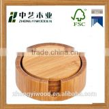 china factory FSC&BSCI bamboo wooden coaster gift pallets for glass cup