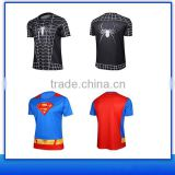 2016 Aofeite superhero t shirt with factory cheap price high quality OEM export service