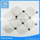 Carrara white and black water jet mosaic marble granite designs
