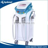 800W+1200W double handpiece skin rejuvenation 808nm diode laser/hair reduce diode lazer from Apolomed