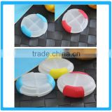 Plastic Round Pill Case Customized Slide Pill Case Pill Case With Cutter Pill Case Customize Logo