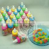 Mini Fruit Sugar Coated Gummy Jelly Candy In Nipple Bottle