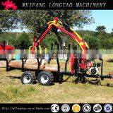 ATV Towable 3 Tonne Forestry Timber Crane Trailer with Honda Engine
