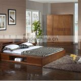 Malaysia Solid Wood Bedroom Furniture,Storage Bed & Solid Wooden Furniture Set,Graceful Wooden Bedroom Set