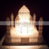 Handcrafted Marble Taj Mahal Model With Lighting
