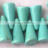 "16"" 7-15mm blue taper natural loose turquoise strand"
