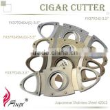 Oval Shaped Stainless Steel Blade Cohiba Cigar Cutters