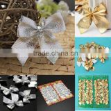 elegant 12pcs Bow Christmas Tree Decoration Xmas Hanging Ornament Bowknot Party Home Decor