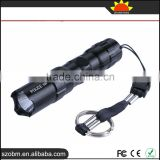 Mini Waterproof Flashlight 1101 Police 3W Torch Flashlight