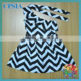 Stylish Black Chevron Maix Dress Hot Selling Cheap One Shoulder Kids Flower Girl Dresses