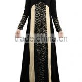 wholesale women dubai muslim fashion long sleeve black dress abaya
