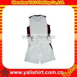 Latest wholesale high quality breathable dry fit polyester womens basketball uniform design