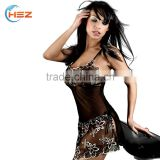HSZ-7088 Elegant quality women lingerie with lace flower embroidery black girls erotic underwear bangladesh bra new design