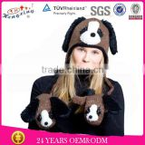 Doggy Animal Hat With Paws Knitted Beanie Winter Hat Adult