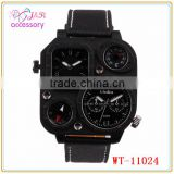 Men's fashion watch / compass /two timer/thermometer/ Leather Watchband