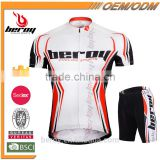 Custom men's cycling jersey and shorts pants cycling jerseys sublimation bike shorts