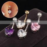 Multi-Color Crystal Navel Belly Ring Piercings Jewelry