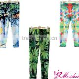 2014 new arrival leggings tight pants printed kids leggings girl tight pants
