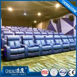 Public cinema sofa with cupholder,automatic reclining cinema chair