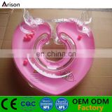 Heart shape inflatable baby neck ring inflatable infant collar ring infant bath ring with angel wings
