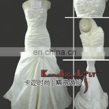 1889B taffeta material embroidery beading bouffant wedding gown party dress with mermaid style evening dress