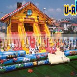 Commercial infltable castle bouncer fun park