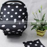 dot design baby car seat cover canopy