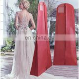 Wedding dress cover wholesale garment clothes storage zipbag 72inch with PVC pocket