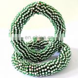 GREEN Pearl bangles -Indian handmade kuchi bangles-belly dance bangles-fashion jewelry-kutch handicraft-kuchi bangles wholesale