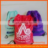custom advertisement leather drawstring bags