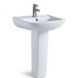 Competitive price bathroom ceramic cheap wash basin sink with durable pedestal