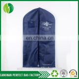 non woven fashion long bridal wedding dress gown cover printed non woven garment bag