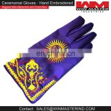 ceremonial hand embroidered gloves