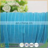 High quality solid color elastic velvet ribbon with 245 colors available