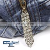 rhinestone zipper slider