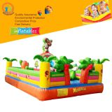 High quality backyard inflatable paw combo patrol dog bouncer jumping bounce castle slide