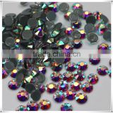 Top quality Factory Price Wholesale New Crystal AB flatback hotfix rhinestone for bags shoes