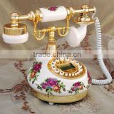 old fashion style ceramic phone ,antique decorative corded telephone for home decoration