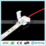 Waterproof IP 65 15cm extend cable 8mm 2pin one clip PCB FPC solderless connector for SMD 3528 LED strip light