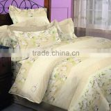 Hot sale microfiber fabric pigment printed bedding sheet set/home textile bedding sheet set