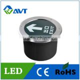 LED Exit Sign Underground Light LED underground light 6W Tempered glass & stainless steel