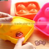 Dia 4.5 cm silicone ice ball maker with 4 cavities