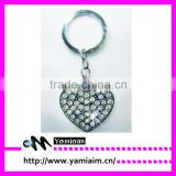 Promotional crystal keychain supplier low minimum